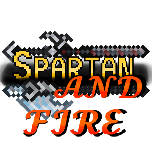 Spartan and Fire Logo