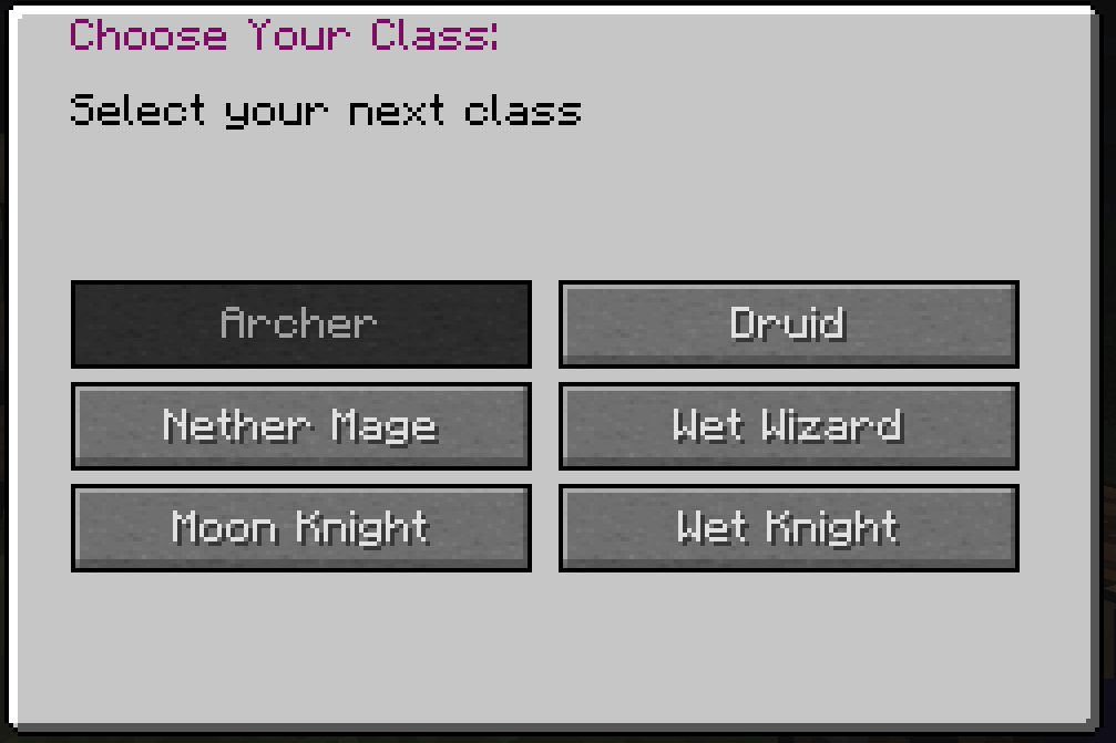 class swap menu